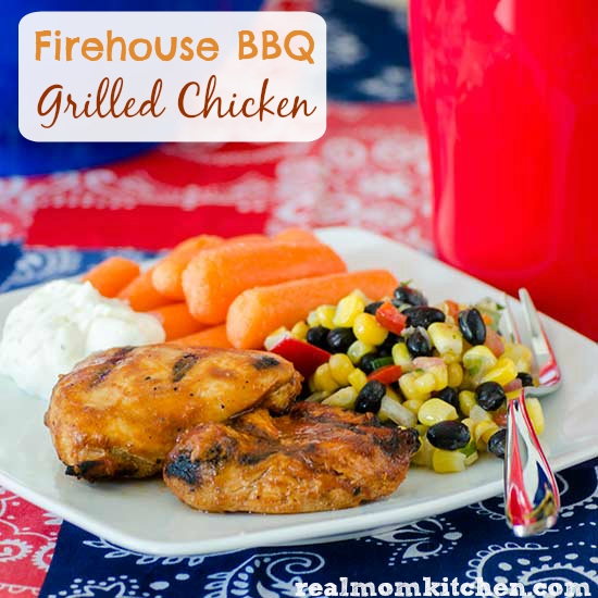 Firehouse BBQ Grilled Chicken | realmomkitchen.com