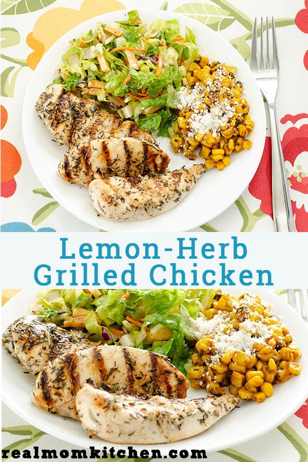 Lemon Herb Grilled Chicken | realmomkitchen.com