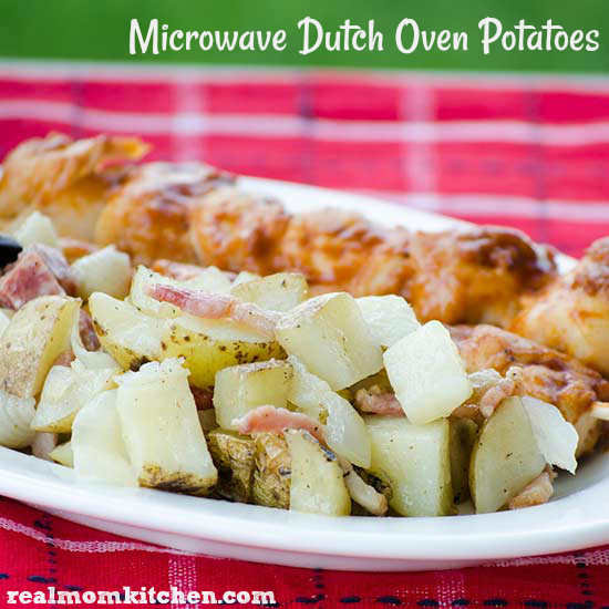 Microwave Dutch Oven Potatoes | realmomkitchen.com