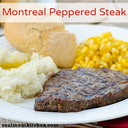 Montreal Peppered Steak | realmomkitchen.com