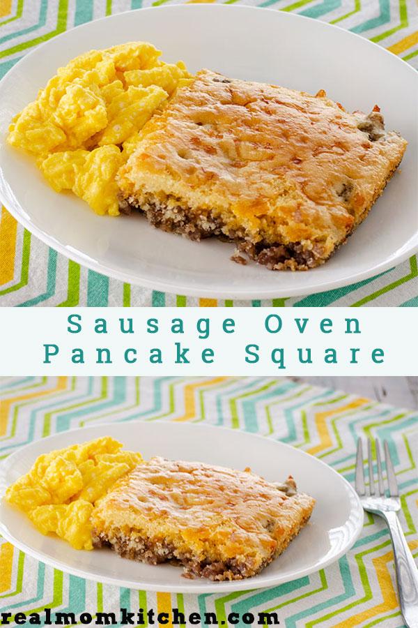 Sausage Oven Pancake Square | realmomkitchen.com