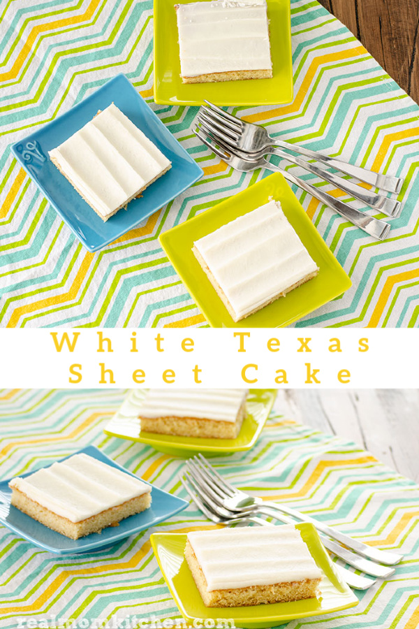 White Texas Sheet Cake | realmomkitchen.com