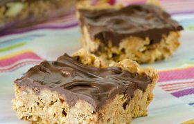 No Bake Banana Crunch Bars | realmomkitchen.com
