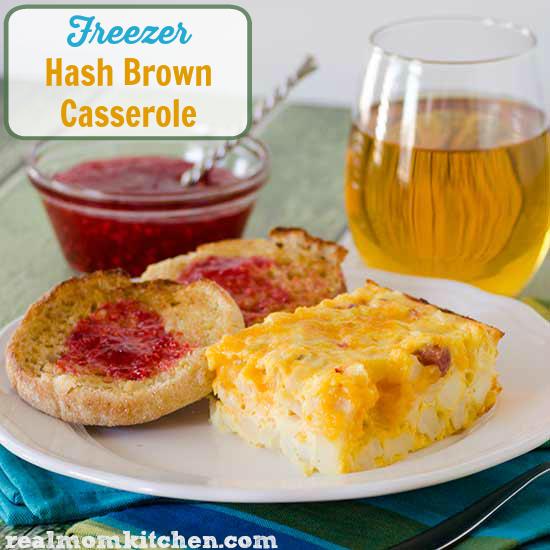 Freezer Hash Brown Casserole | realmomkitchen.com