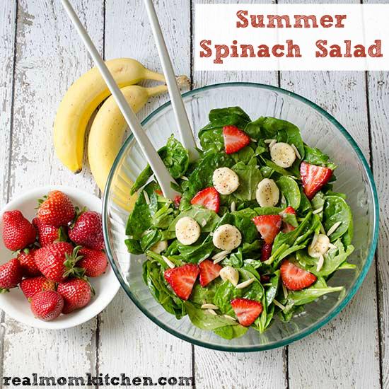 Summer Spinach Salad | realmomkitchen.com