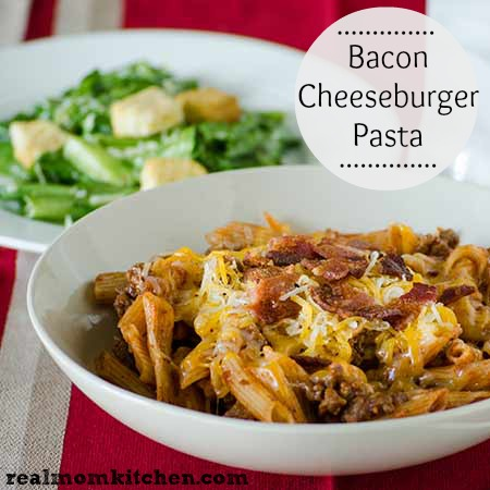 Bacon Cheeseburger Pasta l realmomkitchen.com