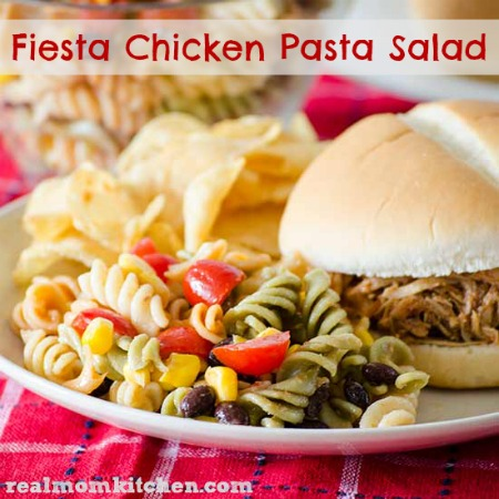 Fiesta Pasta Chicken Salad | realmomkitchen.com