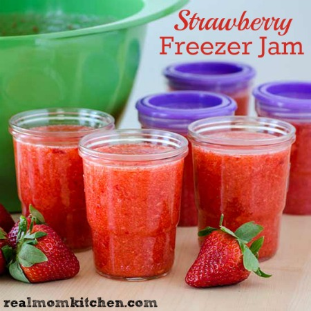 Freezer Strawberry Jam | realmomkitchen.com