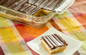 Layered Peanut Butter Bars | realmomkitchen.com