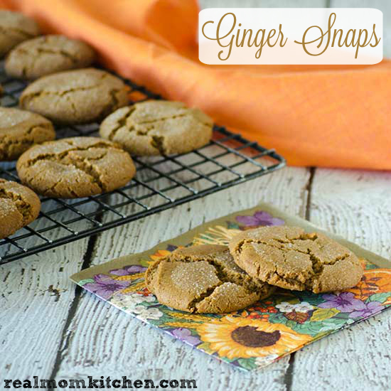 Ginger Snaps | realmomkitchen.com