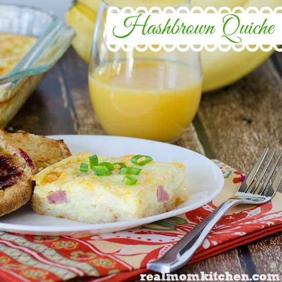 Hashbrown Quiche | realmomkitchen.com