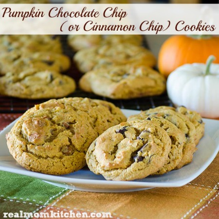 Pumpkin Chocolate Chip Cookies | realmomkitchen.com