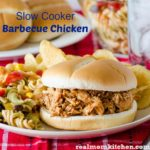 Slow Cooker Barbecue Chicken | realmomkitchen.com