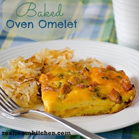 Baked Oven Omelet | realmomkitchen.com