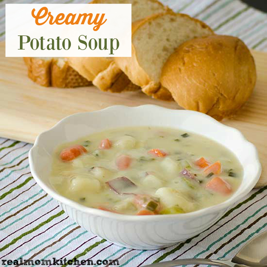 Creamy Potato Soup | realmomkitchen.com