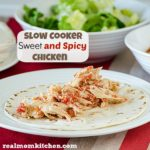 Slow Cooker Sweet and Spicy Chicken | realmomkitchen.com