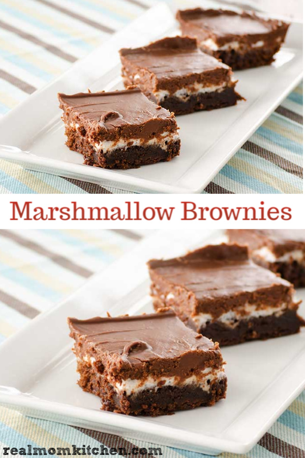 Marshmallow Brownies | realmomkitchen.com