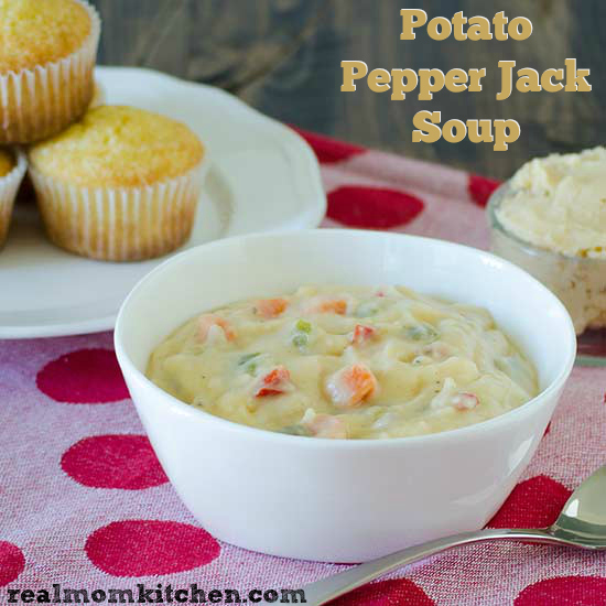 Potato Pepper Jack Soup | realmomkitchen.com