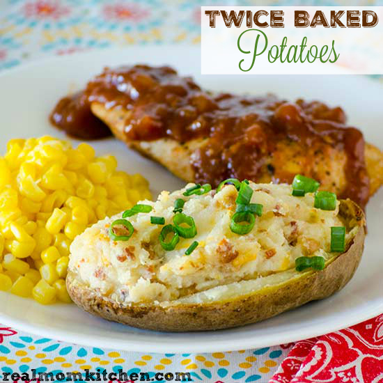 Twice Baked Potatoes   realmomkitchen.com