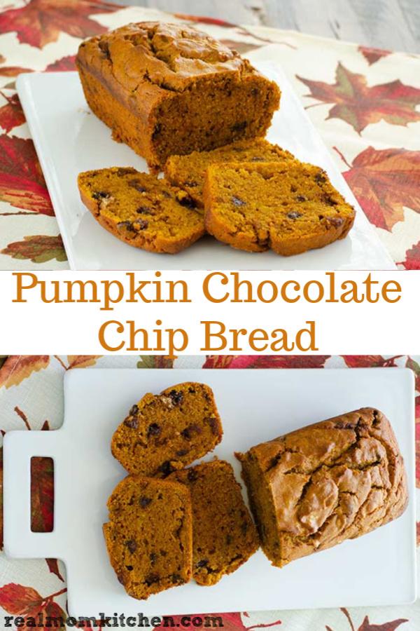 Pumpkin Chocolate Chip Bread | realmomkitchen.c