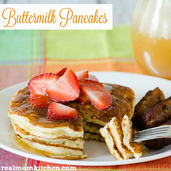 Buttermilk Pancakes | realmomkitchen.com