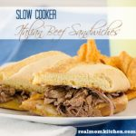 Slow Cooker Italian Beef Sandwiches l realmomkitchen.com