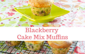 Blackberry Cake Mix Muffins | realmomkitchen.com