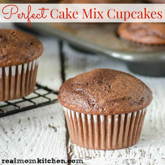 Perfect Cake Mix Cupcakes  | realmomkitchen.com
