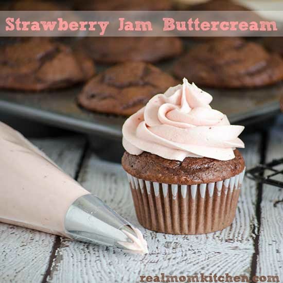 Strawberry Jam Buttercream | realmomkitchen.com