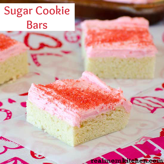 Sugar Cookie Bars | realmomkitchen.com