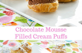 Chocolate Mousse-Filled Cream Puffs   realmomkitchen.com