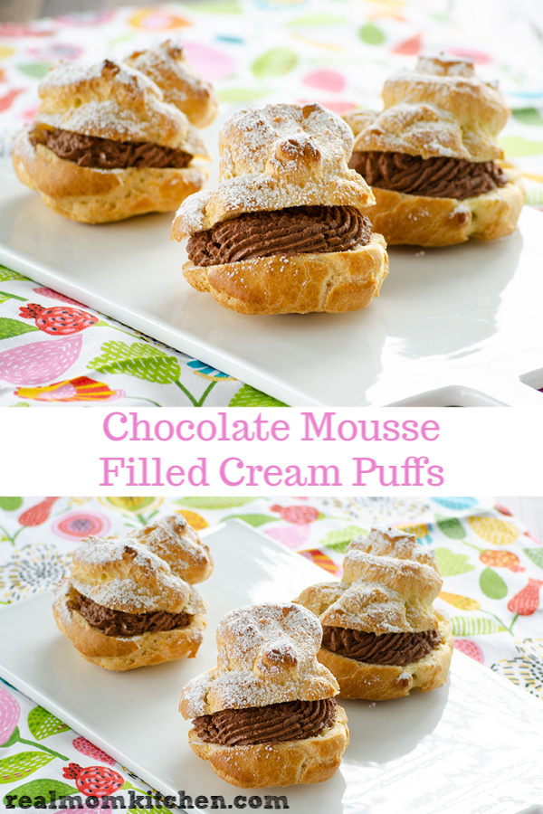 Chocolate Mousse-Filled Cream Puffs | realmomkitchen.com