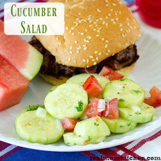 Cucumber Salad | realmomkitchen.com