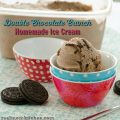 Double Chocolate Crunch Homemade Ice Cream | realmomkitchen.com