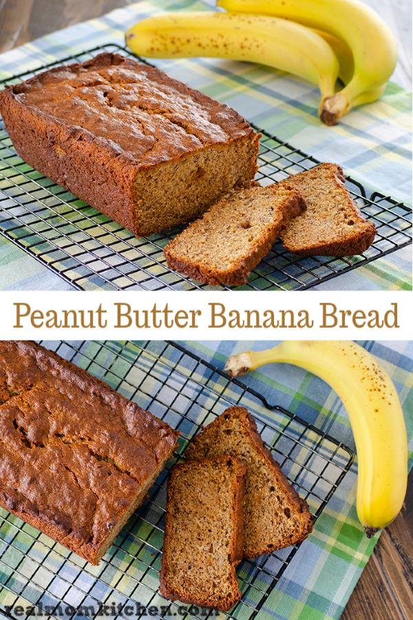 Peanut Butter Banana Bread | realmomkitchen.com