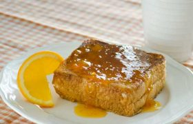 Pecan Cream Cheese Stuffed French Toast | realmomkitchen.com