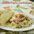 Quick Pasta Carbonara | realmomkitchen.com