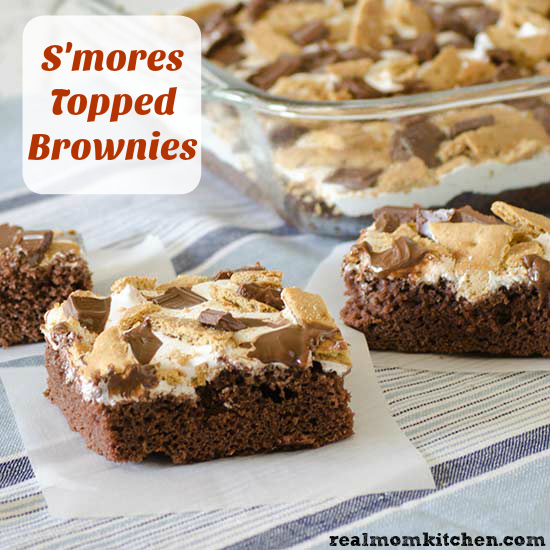 Smore Topped Brownies   realmomkitchen.com