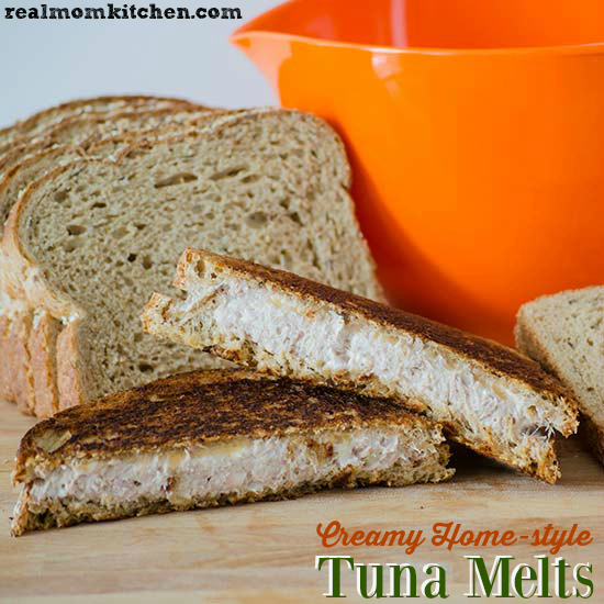 Creamy Home-style Tuna Melts | realmomkitchen.com