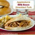 Applesauce BBQ Sauce Shredded Pork | realmomkitchen.com