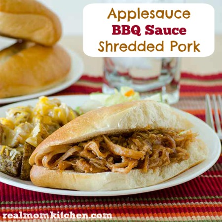 Applesauce BBQ Sauce Shredded Pork | realmomkitchen.com