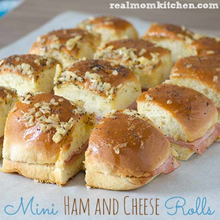 Mini Ham and Cheese Rolls   realmomkitchen.com
