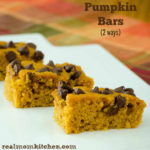 Pumpkin Bars (2 Ways) | realmomkitchen.com