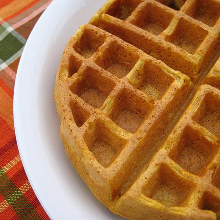 pumpkin belgian waffles 9 450