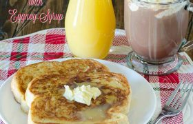 Eggnog French Toast with Eggnog Syrup   realmomkitchen.com