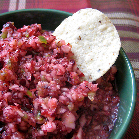 salsa spicy cranberry salsa cranberry salsa with cilantro made this ...