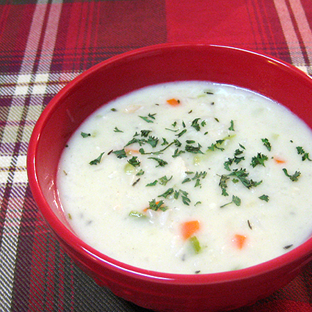 cream chicken and rice soup 3 450