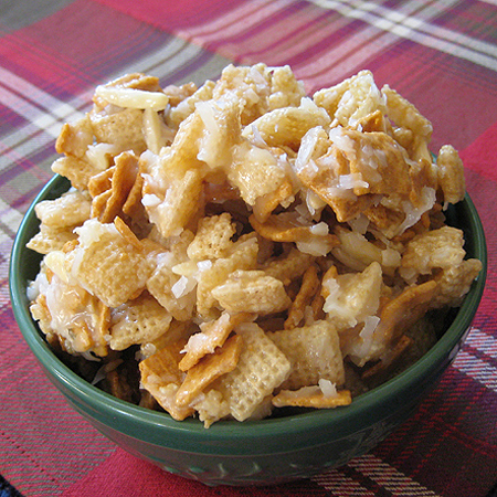... coconut chocolate macaroon chocolate coconut chex mix chex mix recipe