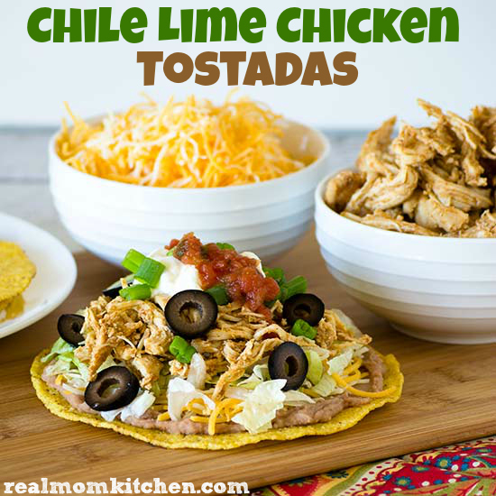 Chile Lime Chicken Tostadas | realmomkitchen.com