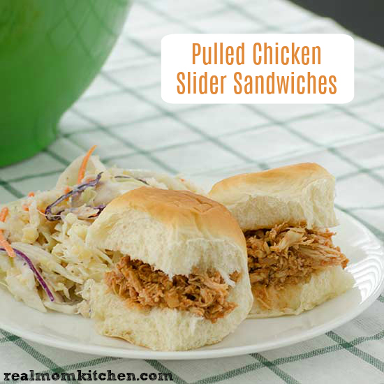 Pulled Chicken Slider Sandwiches | realmomkitchen.com